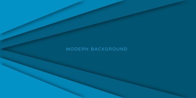 Fundo de estilo de papel cortado de camadas abstratas azuis.