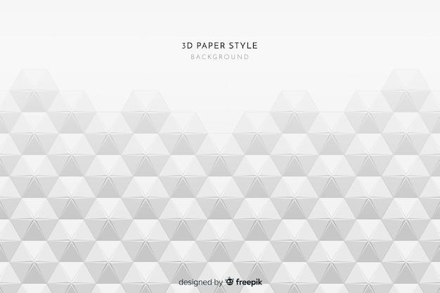 Fundo de estilo de papel tridimensional