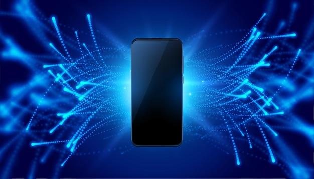 Fundo de estilo de tecnologia de conceito móvel futurista