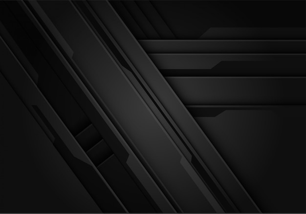 Fundo de estilo futurista metálico preto.