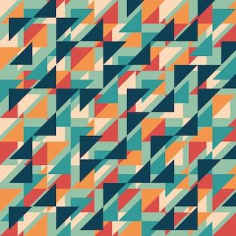 Fundo de estilo geométrico abstrato vintage.