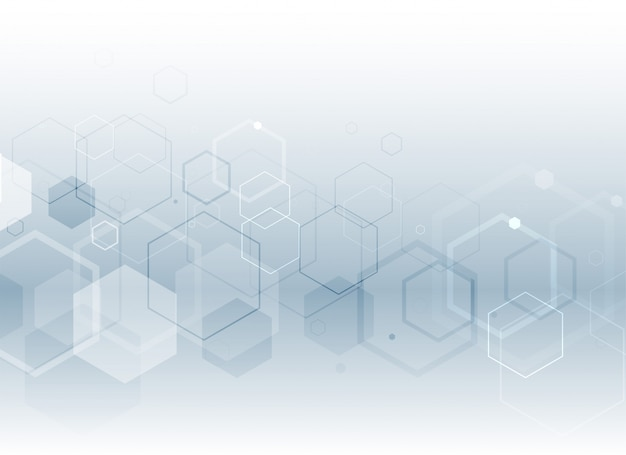 Fundo de estilo médico hexagonal