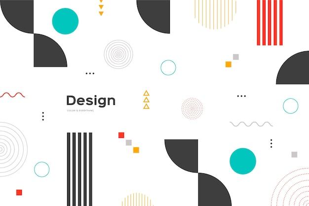 Fundo de estilo memphis com formas coloridas