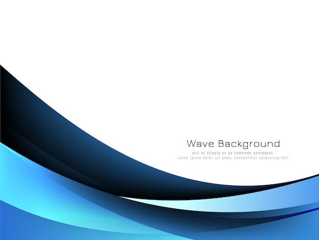 Fundo de estilo onda azul abstrato
