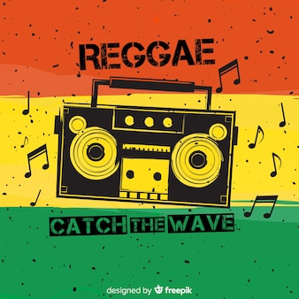 Fundo de estilo reggae com música