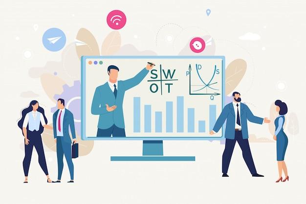 Fundo de estratégia de negócios de planejamento