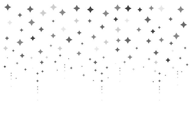 Fundo de estrelas brilhantes de design plano