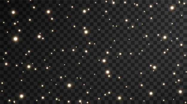 Fundo de estrelas de confete dourado