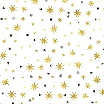 Fundo de estrelas de natal em aquarela