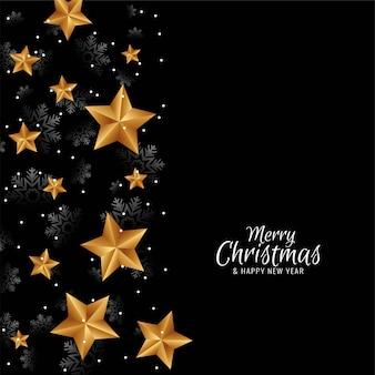 Fundo de estrelas decorativas de feliz natal elegante