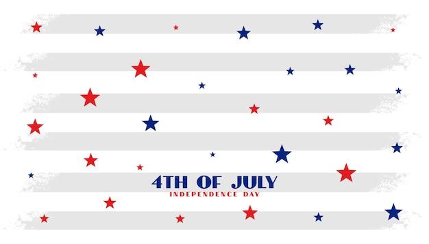 Fundo de estrelas do dia da independência de 4 de julho