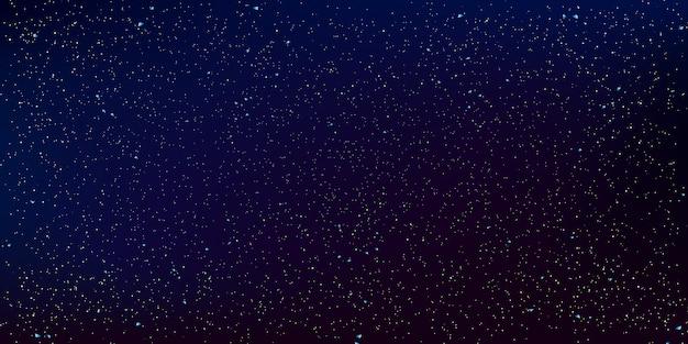 Fundo de estrelas do espaço. ilustração do céu noturno.