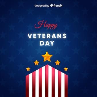 Fundo de estrelas douradas do dia dos veteranos