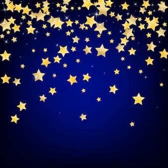 Fundo de estrelas douradas. papel de parede de stars confetti.