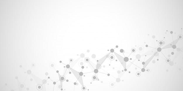 Fundo de estrutura molecular e comunicação