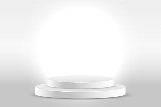 Fundo de estúdio branco com exibição de produto
