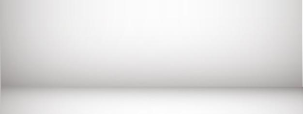Fundo de estúdio com espaço para texto, sala vazia cinza, para produtos de exibição, horizontal, ilustração.