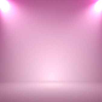 Fundo de estúdio cor abstrata rosa embaçada suave com holofotes para sua apresentação