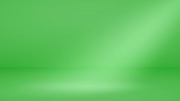 Fundo de estúdio vazio com iluminação suave em cores verdes