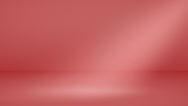 Fundo de estúdio vazio com iluminação suave em cores vermelhas