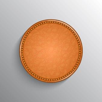 Fundo de etiqueta de couro