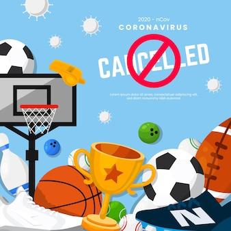 Fundo de evento esportivo cancelado