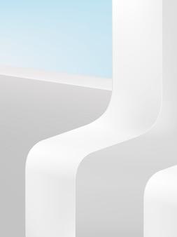 Fundo de exibição de produto de plataforma geométrica, cor pastel.
