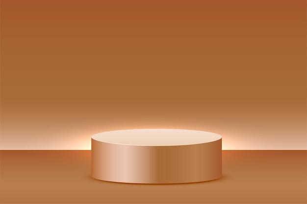 Fundo de exibição de produto vazio com plataforma de pódio
