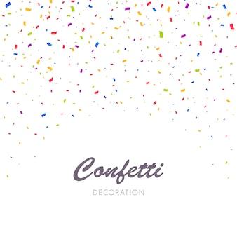 Fundo de explosão de confetes multicoloridos