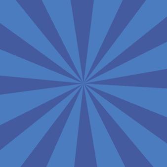 Fundo de explosão de cor azul ou fundo de raios de sol