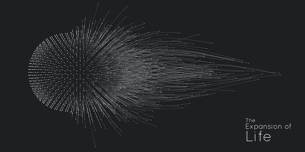 Fundo de explosão de esfera