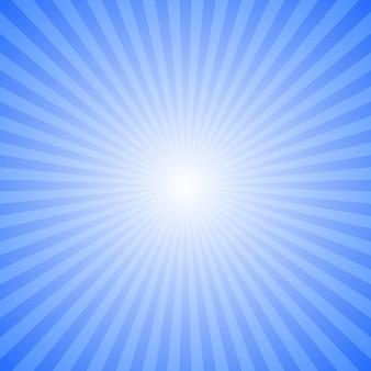 Fundo de explosão de raio abstrato azul - design gráfico de vetor de movimento a partir de raios listrados