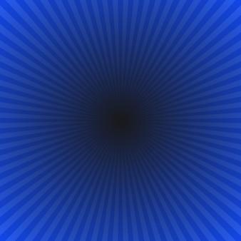 Fundo de explosão de raio de gradiente abstrato azul-escuro - gráfico de vetor hipnótico de raios radiais