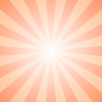 Fundo de explosão de raio geométrico de gradiente abstrato - design gráfico de vetor retro com linhas radiais