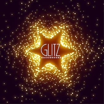 Fundo de explosão estelar de brilhos brilhantes