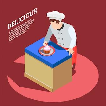 Fundo de fabricante de comida deliciosa