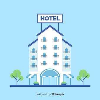 Fundo de fachada plana hotel