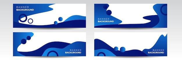 Fundo de faixa larga azul marinho escuro moderno com padrão de bolha de líquido