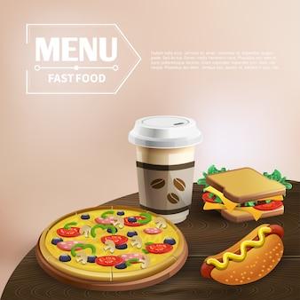 Fundo de fast-food
