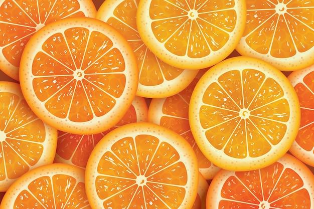 Fundo de fatia de laranja para o verão