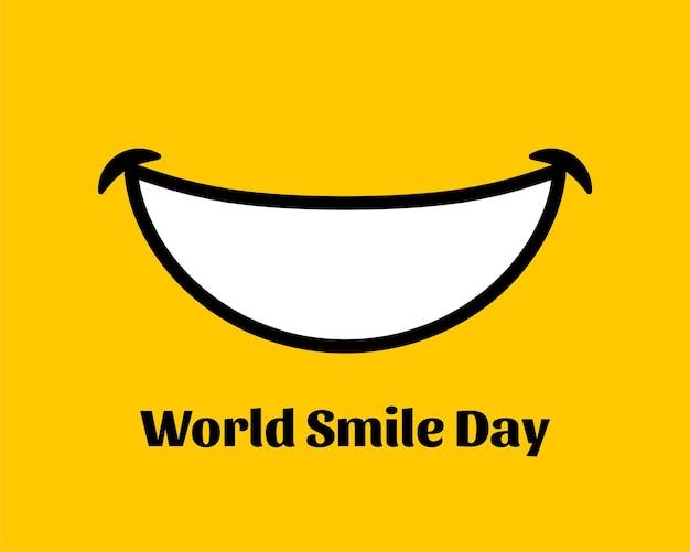 Fundo de felicidade do dia mundial do sorriso