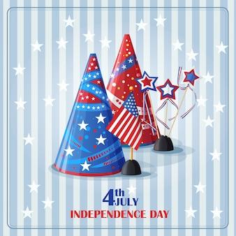 Fundo de felicitações para o dia da independência.