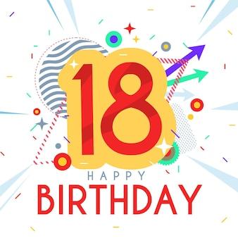 Fundo de feliz aniversário de 18 anos