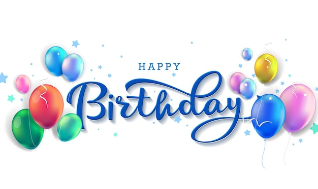 Fundo de feliz aniversário para banner, pôster, festa de convite