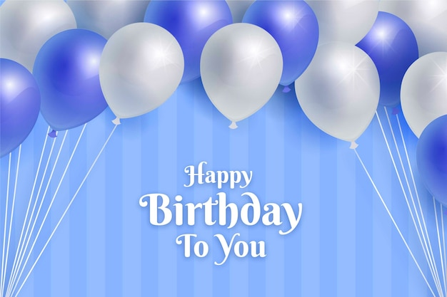 Fundo de feliz aniversário realista