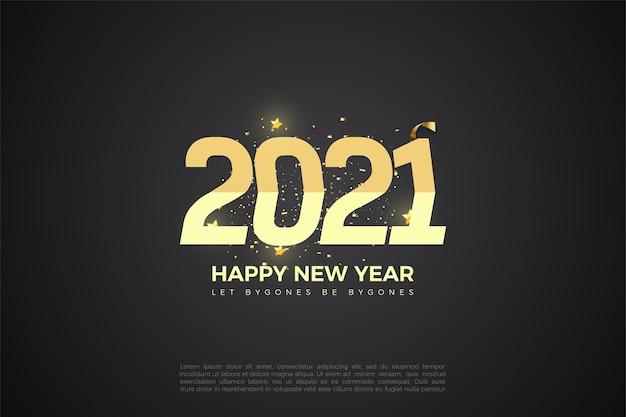 Fundo de feliz ano novo 2021 com duas gradações