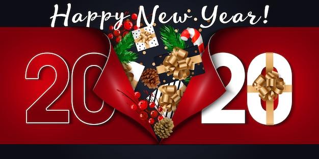 Fundo de feliz ano novo de 2020.