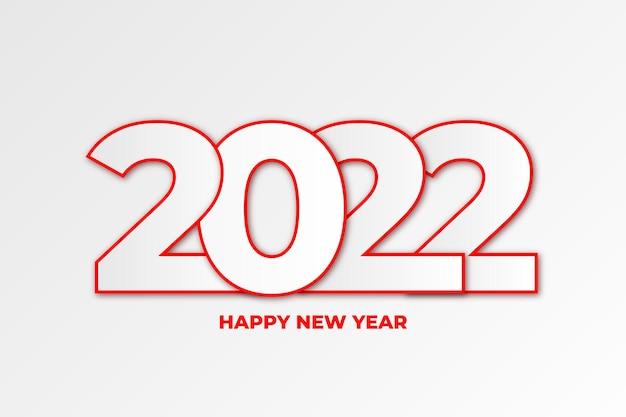 Fundo de feliz ano novo de 2022 com design plano