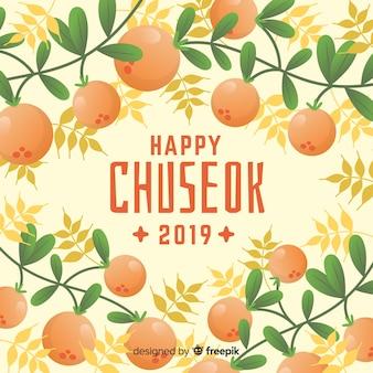 Fundo, de, feliz, coreano, chuseok