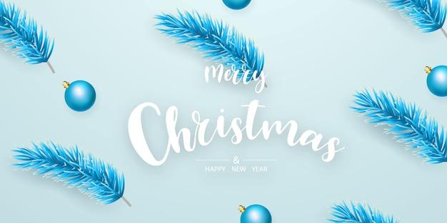 Fundo de feliz natal e feliz ano novo. modelo de plano de fundo de celebração com fitas. cartão rico de saudação de luxo.